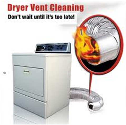 A clothes dryer with the caption Don`t wait until it`s too late!
