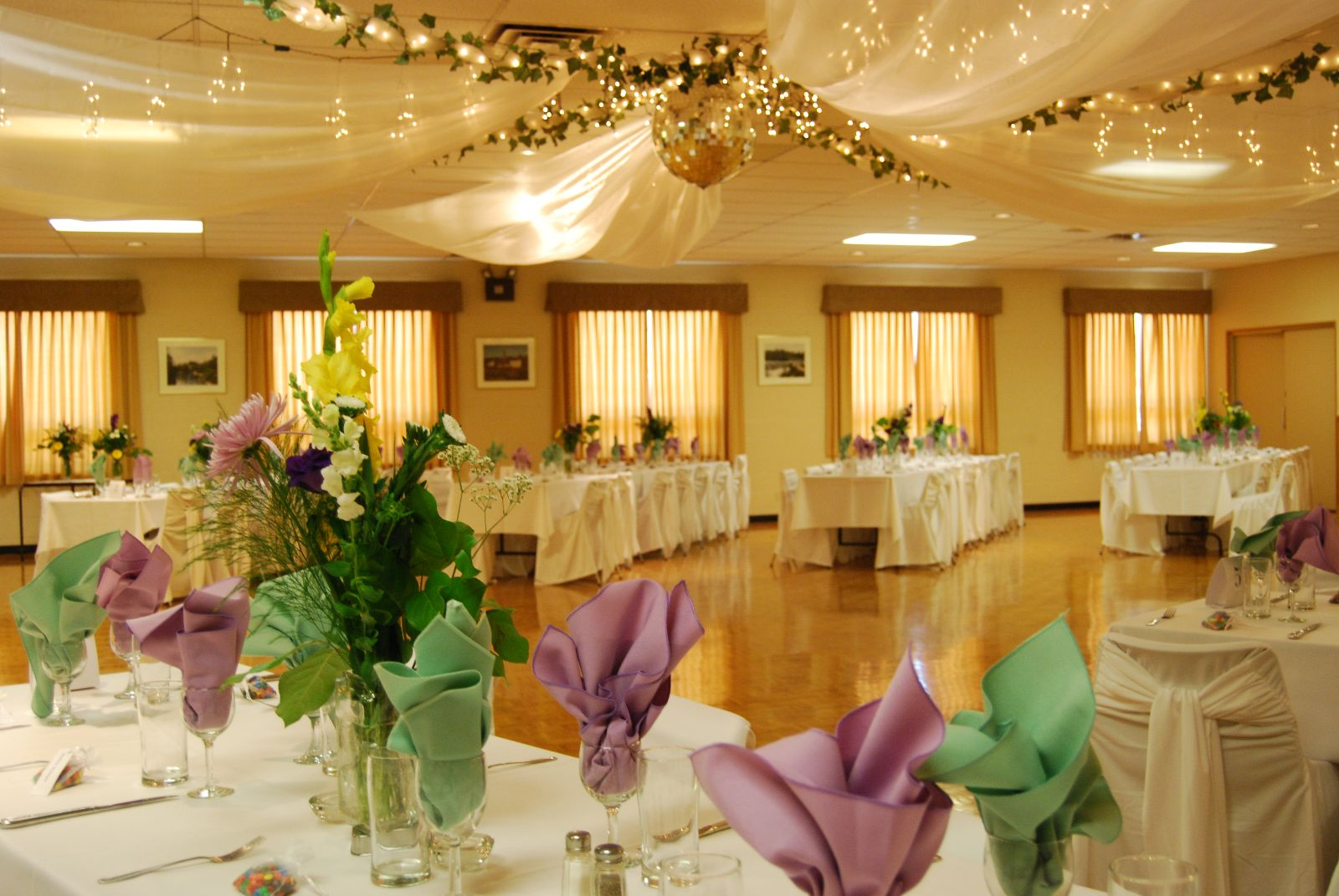 Photo of Rockmosa Hall decorated for a wedding