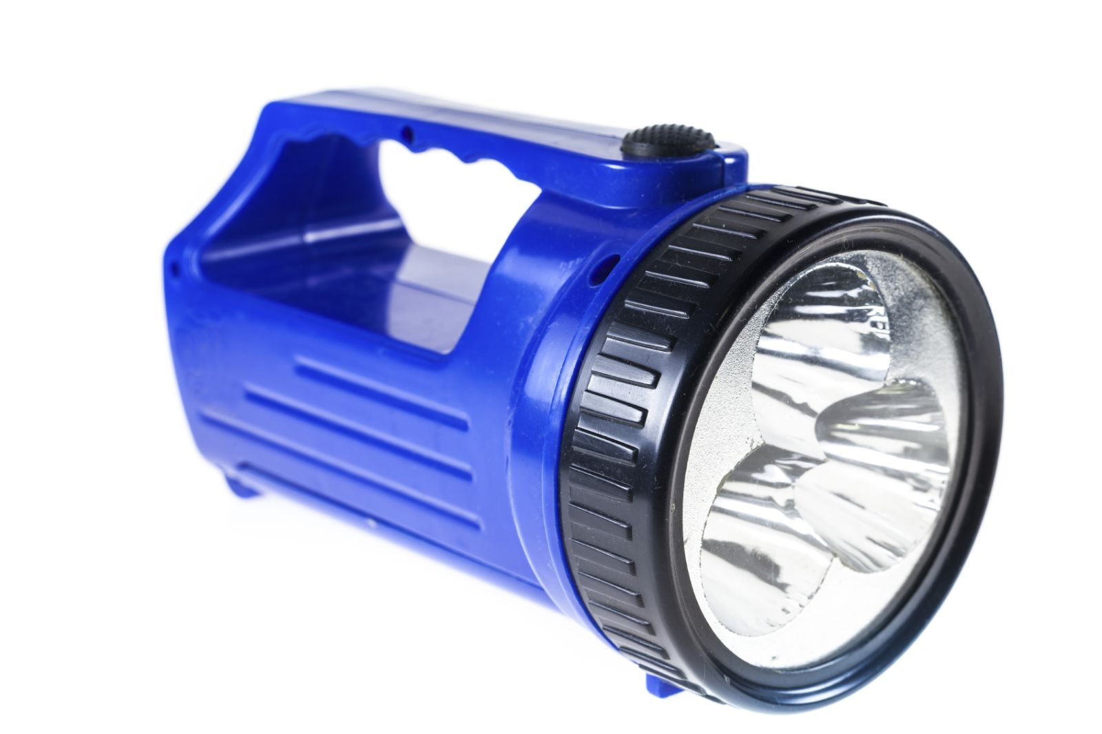 Image of a blue flashlight