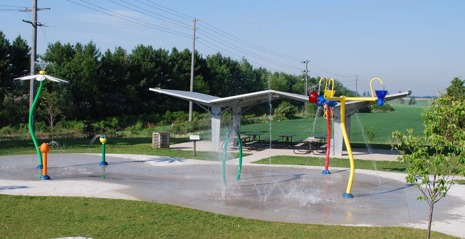 A photo of the splash pad at Rockmosa Park