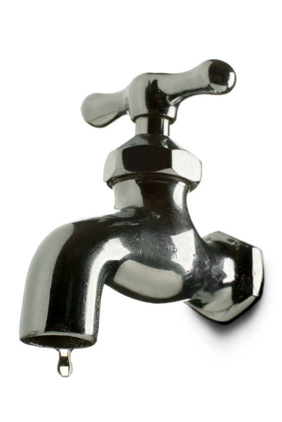 An image of a dripping water tap